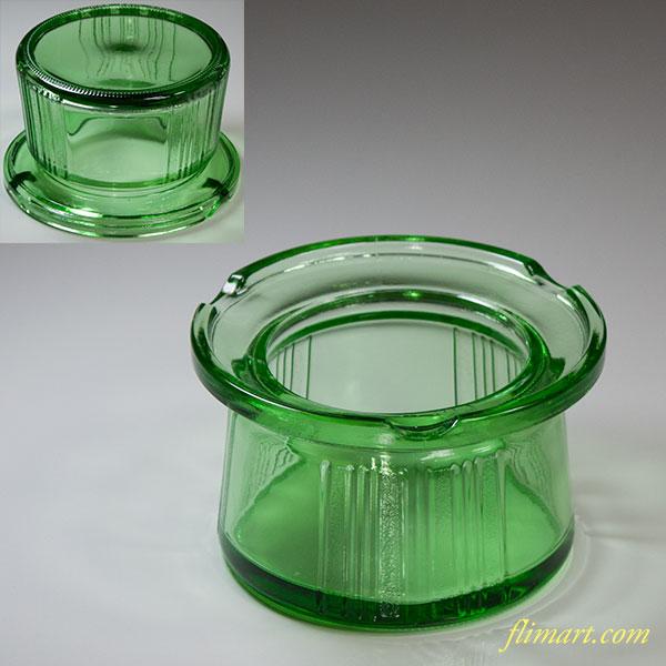 緑ガラス灰皿R5794