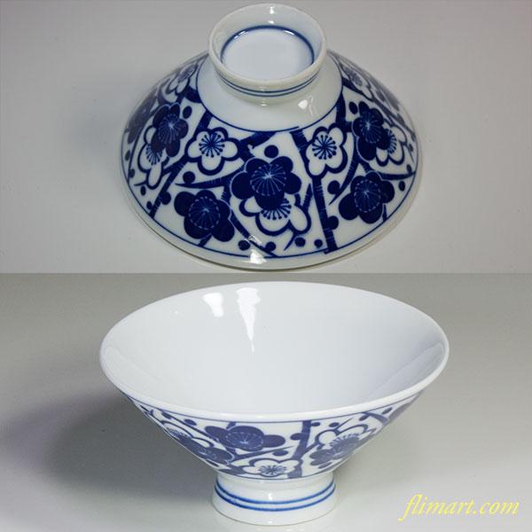 昭和レトロ梅柄茶碗