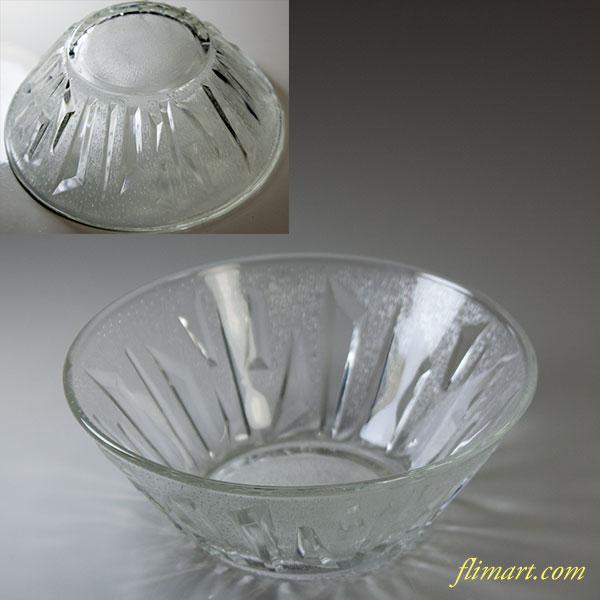 昭和レトロカメイガラス小鉢R5805