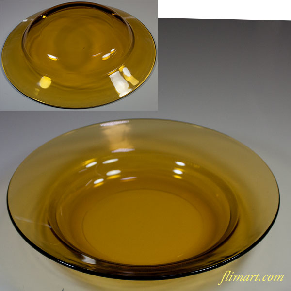 昭和レトロ飴色ガラスプレートR5807
