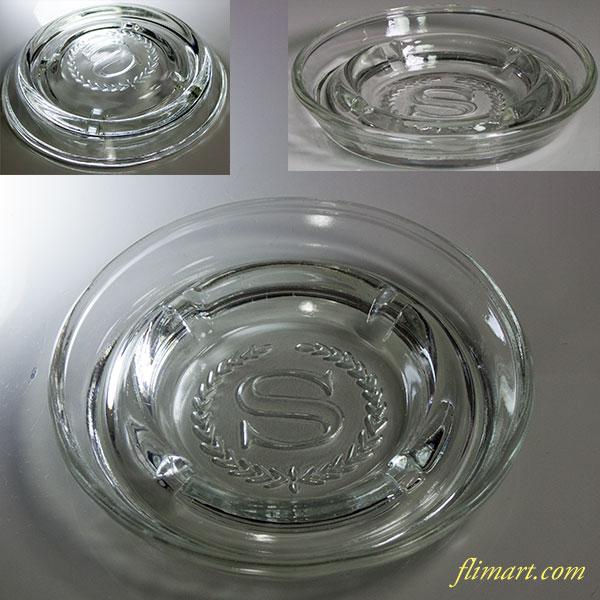 昭和レトロガラス灰皿R5819