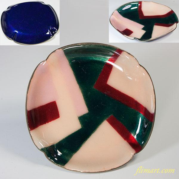 昭和レトロ七宝小皿トレイ