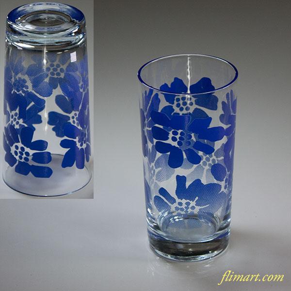 昭和レトロアデリアガラスコップR5835