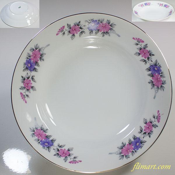昭和レトロSanesu花柄カレー皿