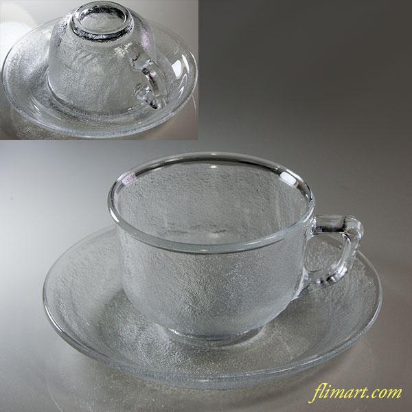 アルコロックシエラarcoroc Sierraガラスカップ&ソーサー