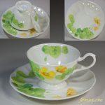 ナルミボーンチャイナWater Flowerカップ&ソーサー