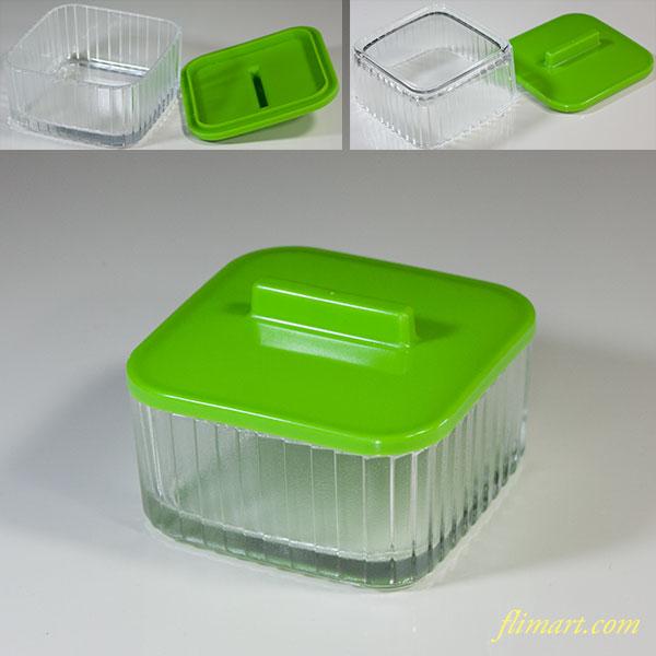 ファンタガラス小鉢緑
