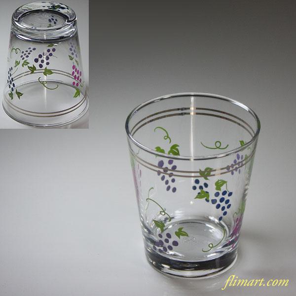 佐々木グラス葡萄柄ガラスコップR5859