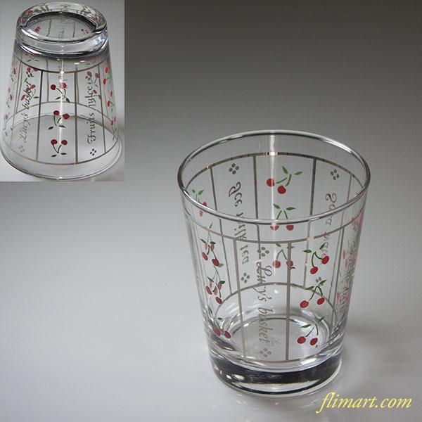 佐々木グラスサクランボ柄ガラスコップR5943