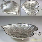 Martianマーシャンシルバー葉型盛鉢