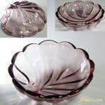 昭和レトロ紫ガラス小鉢R5868