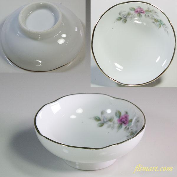 昭和レトロ花柄豆皿おつまみ皿R5884