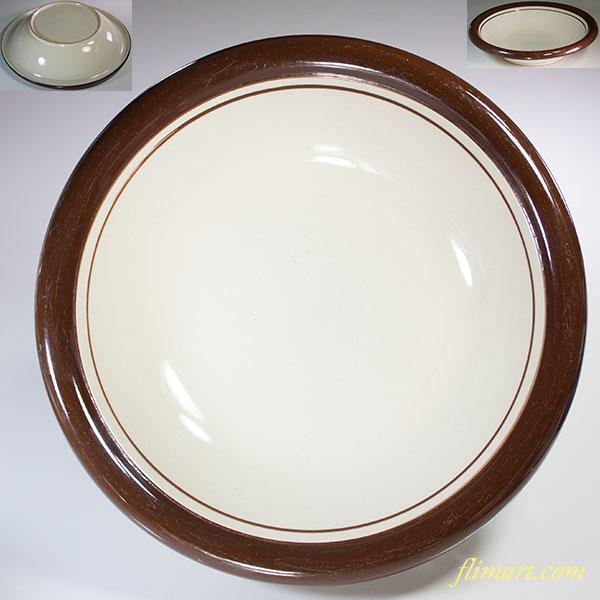 昭和レトロストーンウェアスープ皿R5890