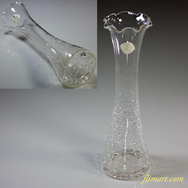 手作りガラス花瓶一輪差し