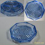 昭和レトロ青ガラスコースターR5909