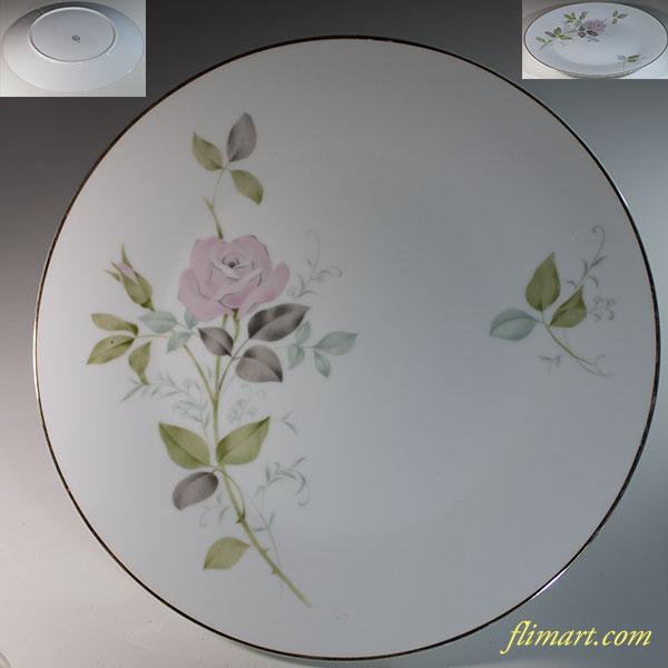 昭和レトロSC花柄薔薇柄26.5cmプレートR5947