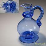 青ガラスピッチャーR5944