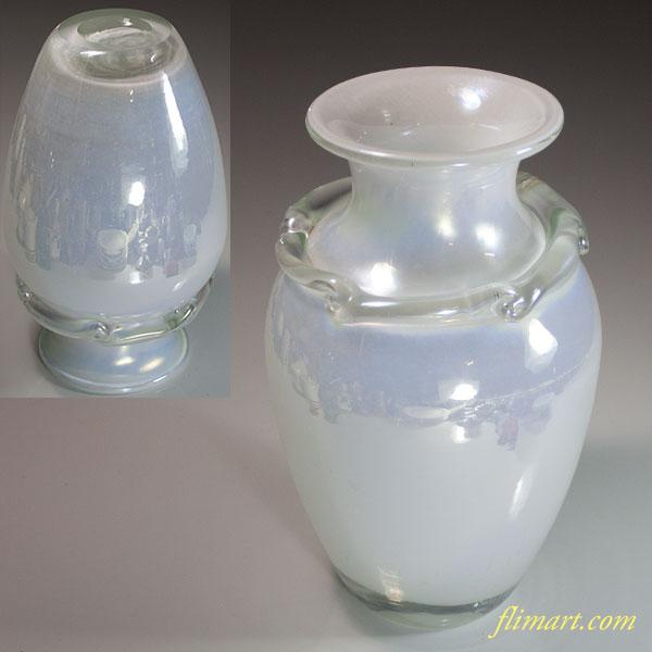 昭和レトロガラス花瓶R5966