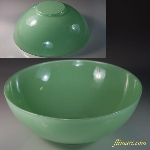 緑ガラスボウルR5964