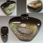 瀬栄陶器SEYEI MAJOLICAラスコー洞窟壁画花瓶R5983