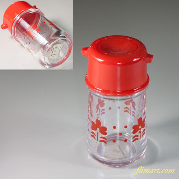 昭和レトロプラスチック醤油差し赤R6028