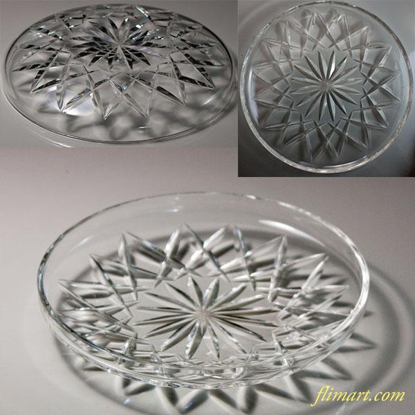 昭和レトロガラス13.5cmプレートR6038