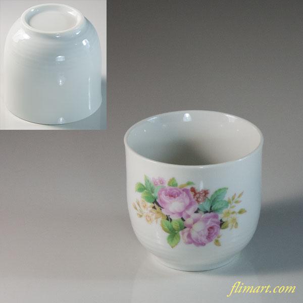 花柄湯呑R6053
