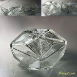 昭和レトロガラス蓋付入物R6062