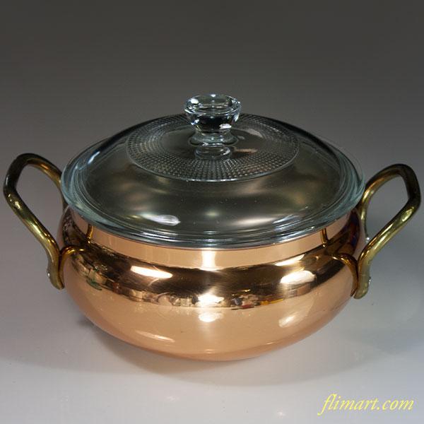 銅製両手鍋R6091