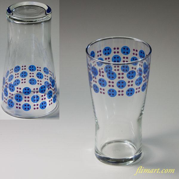 昭和レトロアデリアガラスコップR6089