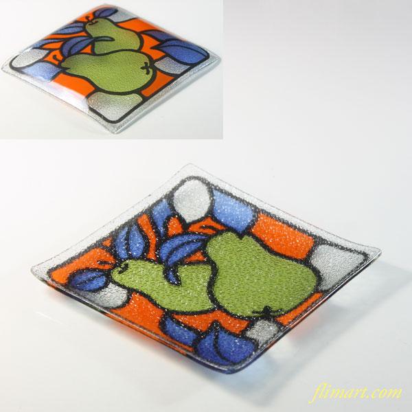 洋梨ガラス小皿トレイR9064