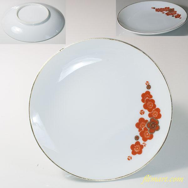 昭和レトロ梅柄16.5cm皿R6141