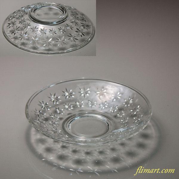 昭和レトロ東洋グラスガラスコースターR6140