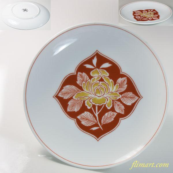 昭和レトロSango三郷陶器菊図15.5cmプレート