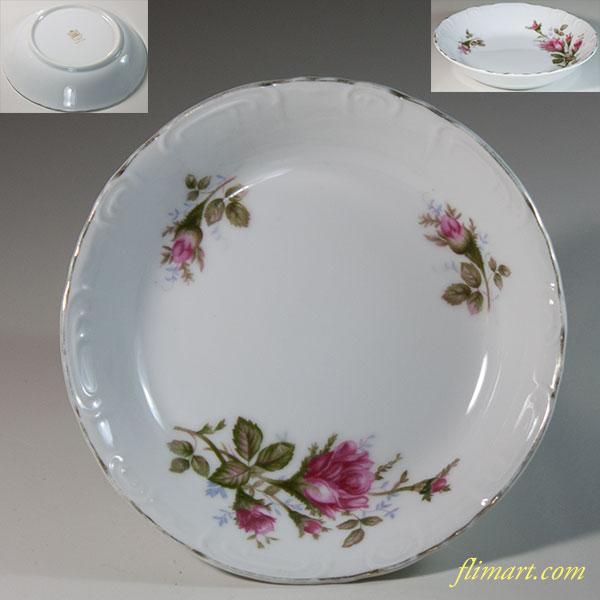 昭和レトロ薔薇柄花柄スープ皿R6227
