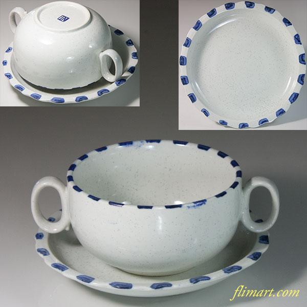 昭和レトロスープカップ&ソーサーR6211