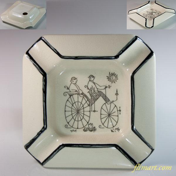 昭和レトロ灰皿R6315