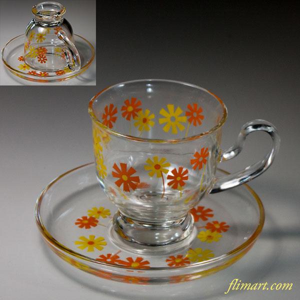 ガラスカップ&ソーサーR6232