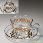 ガラスカップ&ソーサーR6226