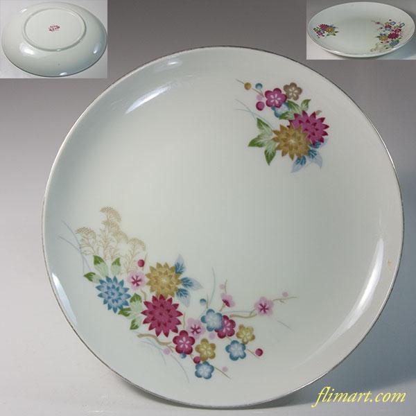 昭和レトロShibata花柄16cmプレートR6331