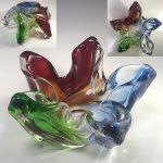 昭和レトロガラス灰皿R6659