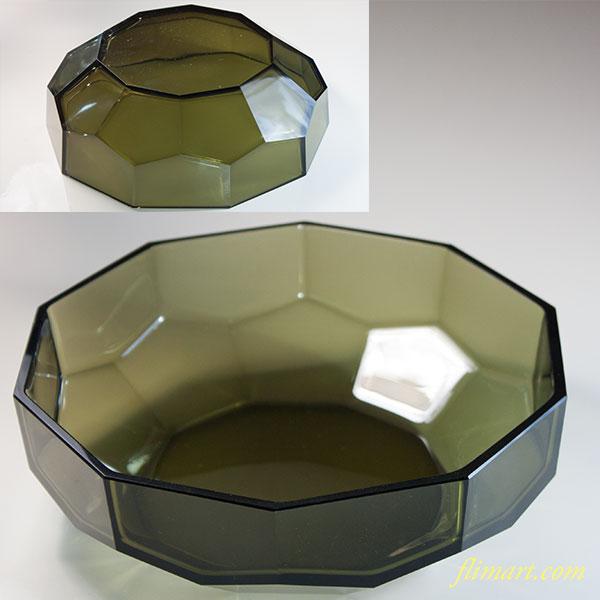 緑ガラス八角ボウルR6310