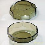 緑ガラス八角小鉢R6273