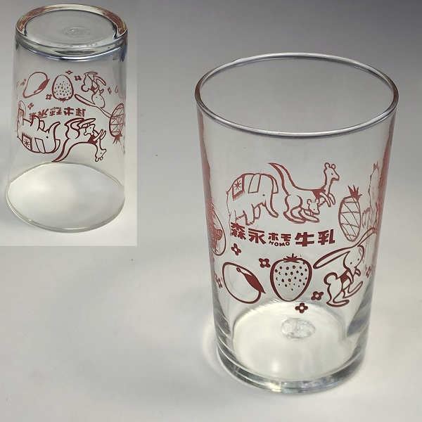 森永ホモ牛乳ガラスコップR6710
