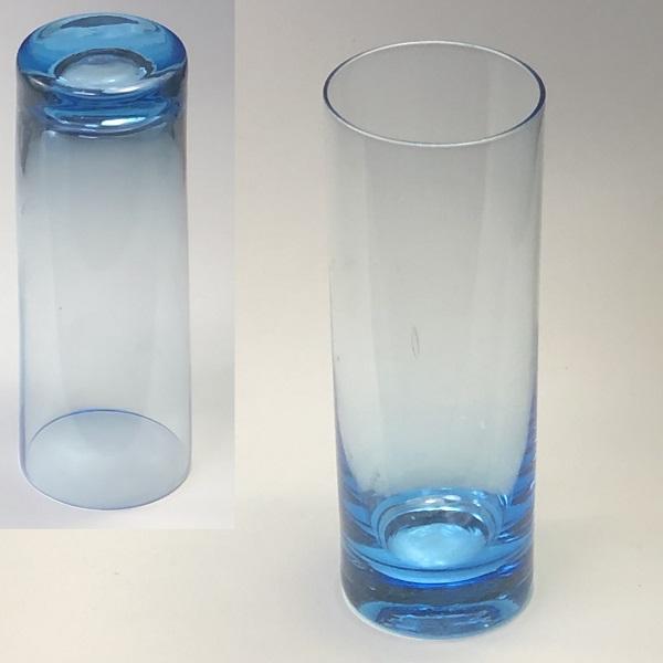 青ガラスコップR6716