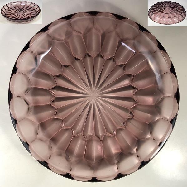 昭和レトロ紫ガラス22.5cmプレート