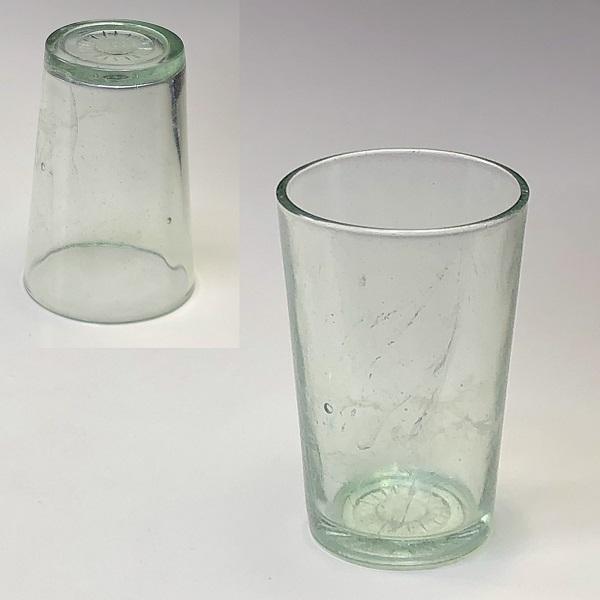 昭和レトロガラスコップR6728