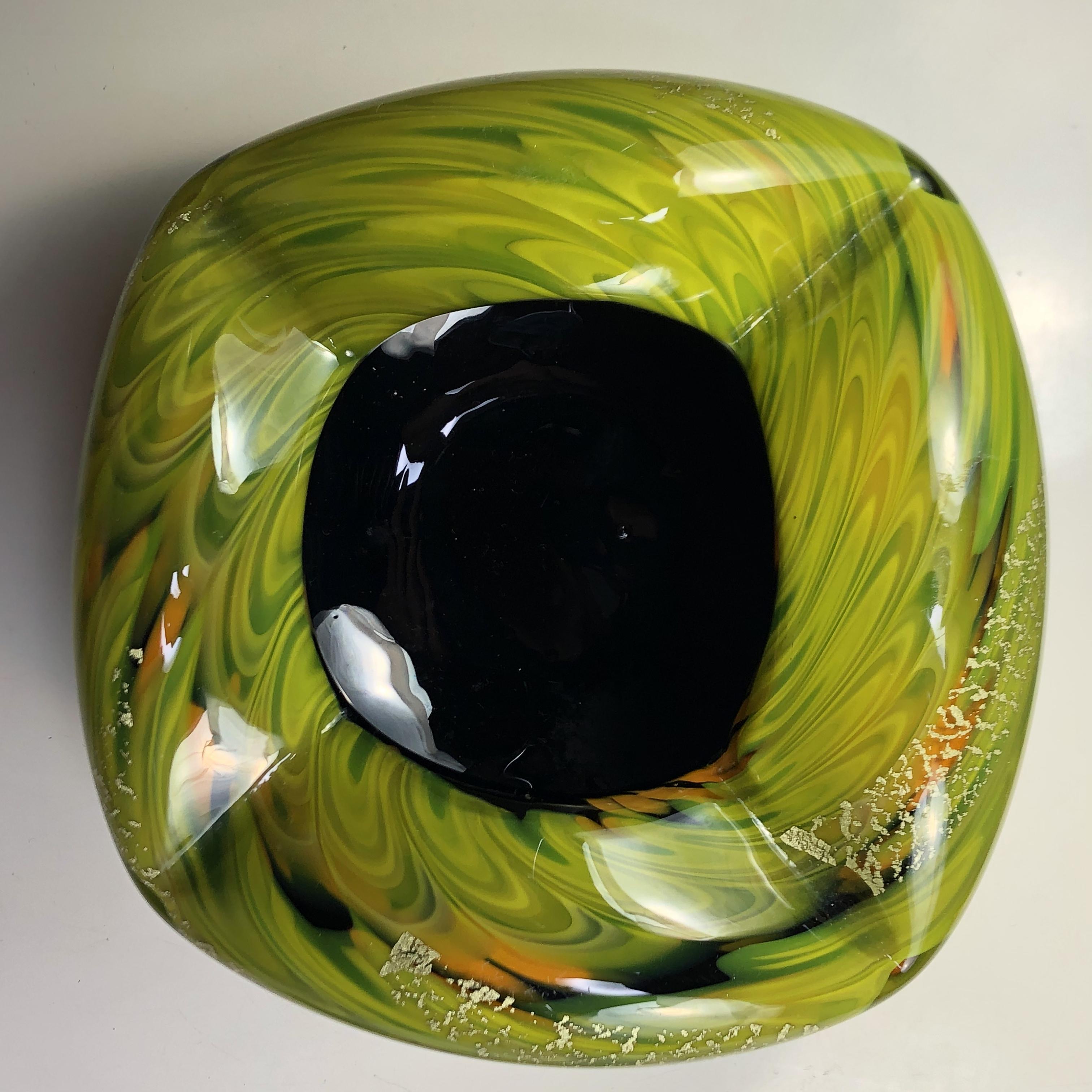 昭和レトロガラス灰皿R6733