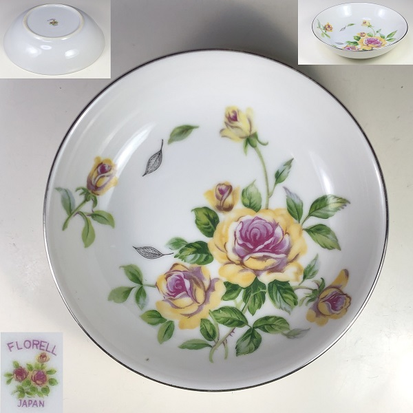 FLORELL花柄薔薇柄ベリー皿
