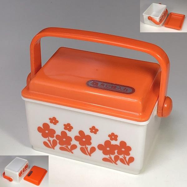 花柄オレンジシュガーポット砂糖入れ